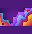 colorful 3d abstract background with paper cut vector image vector image