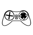control console game funny outline vector image vector image