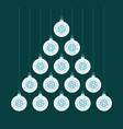 creative coronavirus xmas tree made white bauble vector image