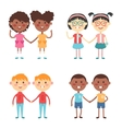 cute cartoon twins brothers and sisters vector image