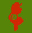 detailed of tunisia map vector image vector image