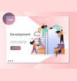 development website landing page design vector image vector image