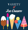 different kinds ice cream vector image