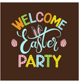 easter party colorful lettering vector image