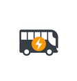 electric bus icon isolated on white vector image vector image