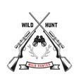emblem template hunting club emblem with deer vector image vector image