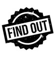 find out rubber stamp vector image vector image