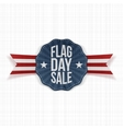 Flag Day Sale realistic Banner with Text vector image vector image