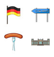 flag symbol germany and other web icon in vector image vector image