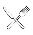 fork and knife icon vector image vector image