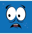 Funny cartoon face vector image vector image