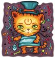 funny tiger in top hat vector image vector image