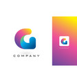 g logo letter with rainbow vibrant beautiful vector image vector image