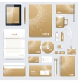 Golden set of corporate identity template vector image vector image