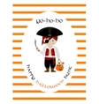 Happy halloween hunt card with cute pirate vector image vector image