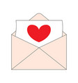 heart letter in a envelope vector image