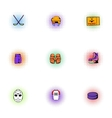Ice fight icons set pop-art style vector image vector image