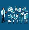 isometrics medicine doctor with a history vector image vector image