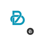 Letter B line puzzle style logo vector image
