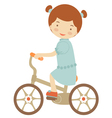 Little girl on bicycle vector image vector image
