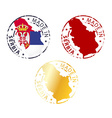 made in Serbia stamp vector image