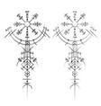 magic ancient viking tattoo vector image vector image