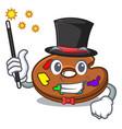 magician palette mascot cartoon style vector image