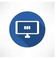 media set in monitor icon vector image vector image