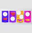 modern minimal set instagram social media vector image vector image