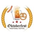 oktoberfest food traditional label design vector image vector image