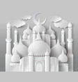 paper mosque vector image vector image