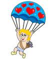 parachute cupid vector image