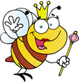 Queen Bee Cartoon Character vector image