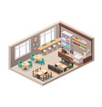 realistic isometric cafe vector image vector image