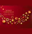 red christmas banner xmas background vector image vector image
