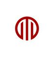 red line stock exchange logo template design eps vector image vector image