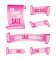 set of pink sale banners vector image vector image
