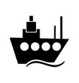 ship glyph black icon vector image vector image
