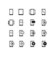 Simple set of approve related line icons
