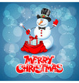 Snowman magic vector image