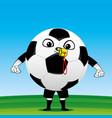soccer ball referee vector image