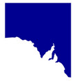 south australia state silhouette vector image vector image