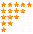 star shaped client satisfaction rating vector image