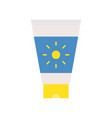 sunscreen tube simple summer related flat icon vector image