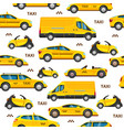 taxi cars seamless pattern collection service vector image vector image