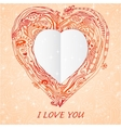 Template frame design for love card vector image vector image