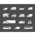 Trucks and buses icons vector image