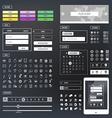Ui kit responsive web design Icons template mockup