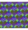 Violet-green plaid fabric vector image vector image