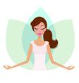 yoga lotus pose vector image vector image